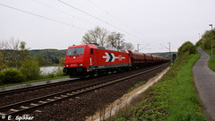 Erpel, Duitsland 30-04-2013 (E. Spikker) Tags: train am rhein rijn trein 185 bombardier hgk erpel 6327 kolen 632 185632