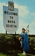 Welcome to Nova Scotia (SwellMap) Tags: road signs monument public sign vintage advertising design 60s highway gate arch fifties message postcard suburbia entrance style kitsch retro billboard route nostalgia chrome freeway gateway billboards americana 50s lettering welcome roadside populuxe sixties babyboomer consumer coldwar midcentury spaceage atomicage archwaypc