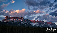Castle Profile (johnfuj) Tags: sunset clouds landscape photography alberta banff banffnationalpark castlemountain