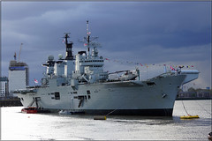 R06 HMS Illustrious (PaulHP) Tags: storm london thames clouds river anniversary greenwich navy royal battle atlantic boa 70th illustrious stormclouds rn hms r06