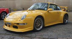 1994 PORSCHE 993 GT2 (shagracer) Tags: yellow porsche gt2 german sports cars car classic vehicle 993 queen square bristol meet adc breakfast club avenue drivers