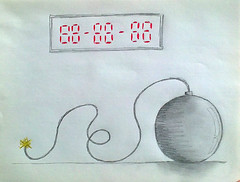 One day to explode (Gahbead) Tags: drawing bomba bomb dibujo