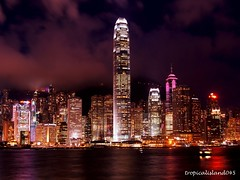 Night Shot Hong Kong  (tropicalisland045) Tags: city urban building buildings hongkong asia nightshot citylights nightview