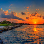 Jupiter-Inlet-Park-Sunset-at-Jetty-with-Pelicans thumbnail