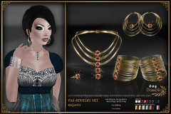 DANIELLE Taj Jewelry Set Majestic (Dani Plassitz) Tags: fashion modern silver gold necklace gothic ring diamond casual earrings filaments bangles elegance shininess jewelryset stylesbydanielle