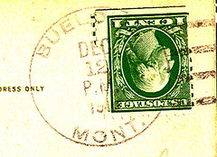 Buelows, Montana (Postmarks from Montana) Tags: montana postagestamp postmark 1916 december12 buelows