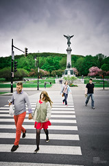 The Crossing (Michael Vesia) Tags: street montreal crosswalk montroyal canda