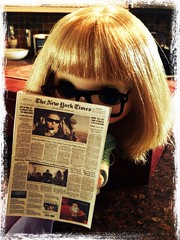 Lois (BlytheHarlem) Tags: glasses doll newspapers reporter may lane blythe neo lois superstars uploaded:by=flickrmobile flickriosapp:filter=nofilter
