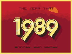 1989 (todd_fooshee) Tags: illustration poster typography design graphicdesign 3d vectorart graphic text letters nintendo font type videogame 8bit lettering fonts vector typeface eightbit 3dtext 3dfont