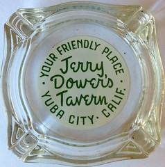 JERRY DOWER'D TAVERN YUBA CITY CALIF (ussiwojima) Tags: california glass bar advertising lounge cocktail tavern ashtray yubacity jerrrydowerstavern