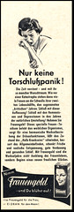 Frauengold (Harald Haefker) Tags: promotion vintage magazine germany ads print advertising deutschland pub publicidad reclame ad retro anuncio advertisement nostalgia german 1950s advert 1957 werbung anti publicit magazin reklame deutsch affiche publicitario deutsche pubblicit rclame depressiv tonikum pubblicizzazione frauengold