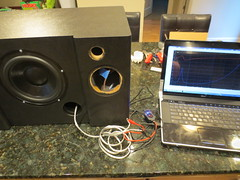 Checking subwoofer port tuning with WT3 (burritobrian) Tags: diy speaker boombox overnightsensations speakerbuild sd215a88