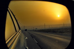 Highway to Riyadh (BlackZero_007) Tags: morning travel sunset landscape dawn mirror golden highway scenery asia gulf dusk best east hour saudi arabia middle eastern hdr province suns khobar dammam sonyh20