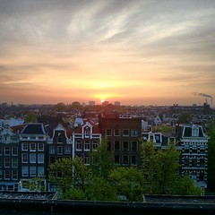 Sunset in Amsterdam. (Amsterdam Holland Pass) Tags: city roof sunset holland beautiful amsterdam square pass squareformat prinsengracht normal olanda jordaan nofilter niederlande builing citypass iphoneography instagramapp uploaded:by=instagram hollandpass