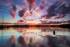 Valentine sunset (Dan40D) Tags: sunset lake color colour water clouds boats yacht valentine filter macquarie hitech graduated 6d canin