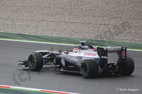 Pastor Maldonado in his Williams in Free Practice 1 at the 2013 Spanish Grand Prix