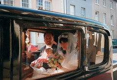 Melinda's weddin 7 Sept 1991 (siaronj) Tags: wedding car groom bride 1991