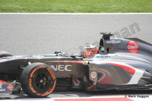 Nico Hulkenberg in Free Practice 3 for the 2013 Spanish Grand Prix