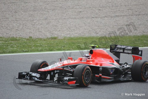 Max Chilton in Free Practice 3 for the 2013 Spanish Grand Prix