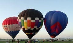 HOT AIR TRIO (bugs_in_teeth) Tags: hot oklahoma balloons air airshow durant ge