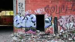 Glue (Lyfetime) Tags: abandoned graffiti paint glue touch detroit most moe mince packard packardplant degs weedwolf etmd
