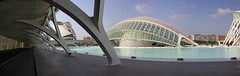 Valencia - City of Arts and Sciences 65 panorama (Romeodesign) Tags: street bridge santiago panorama cinema eye water valencia museum architecture modern clouds spain opera empty wide arches structure calatrava dome planetarium inside pillars imax ciudaddelasartesylasciencias lhemisfric flixcandela cityofartsandsciences 550d elmuseudelescinciesprncipefelipe elpalaudelesreinasofa
