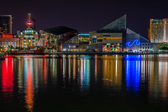 Inner Harbor, Baltimore (DelensMode Thank You for 380,000+ Views) Tags: city trip travel chicago reflection water rock architecture bar stairs lights restaurant harbor cafe nikon neon slow pyramid bright guitar taxi phillips hard maryland baltimore tourist philips grill shutter gotham uss orioles constellation attraction innerharbor watertaxi barnesandnoble d600 ishootraw longexporsure nikonguy gothamism delensmode wwwdelensmodecom booksellerss