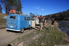 Team Deaf Volks at Dry Creek (zombikombi1959) Tags: california bus northerncalifornia vw creek river drycreek crossing offroad splash camper sst 2013 offthebeatentrack shastasnowtrip