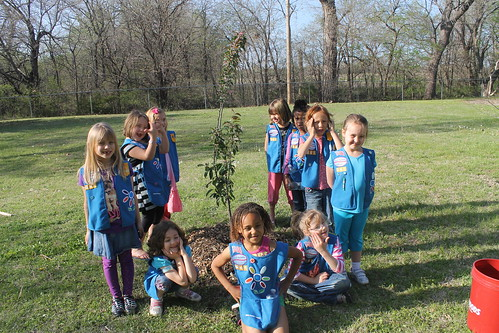 March 18, 2013 - Park City, KS (Girl Scouts of Kansas Heartland Troop 40041) NWF Trees for Wildlife Girl Scout Week 2013