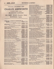 Post Office Telephones - Rochdale & District local telephone directory, March 1959 - page 6 (mikeyashworth) Tags: norden lancashire 1959 rochdale whitworth castleton heywood littleborough postofficetelephones milnrow march1959 arrowmill postofficetelephonedirectory mikeashworthcollection ashtonleachcumberbirch rochdaletelephonedirectory rochdaledistricttelephonedirectory1959