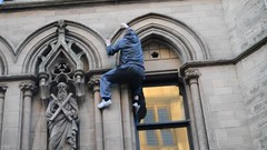 Manchester's Own Spiderman (Tanvir's Pics 2010) Tags: square manchester town hall albert spiderman victory parade title winning mufc 2013
