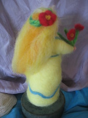 (Willowpoppy) Tags: flowers wool yellow spring handmade waldorf may craft felt needle commission maiden naturetable forheather 2013 willowpoppy