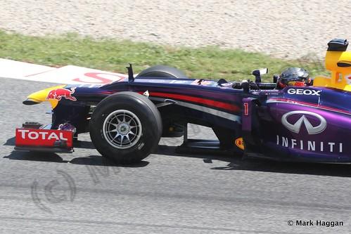 Sebastian Vettel in Free Practice 2 at the 2013 Spanish Grand Prix