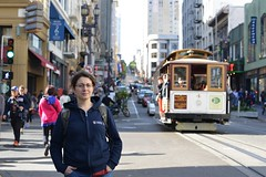 Tatiana at Powell with O'Farrel (gpoo) Tags: sanfrancisco bokeh cablecar tatiana