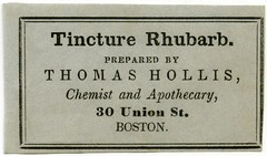 Tincture Rhubarb Label, Thomas Hollis, Boston, Mass. (Alan Mays) Tags: old boston vintage ads paper advertising ma typography grey antique massachusetts gray 19thcentury victorian ephemera type labels mass advertisements fonts printed rhubarb medicines hollis borders typefaces chemists nineteenthcentury pharmacists laxatives tinctures druggists patentmedicines apothecaries productlabels thomashollis tincturerhubarb tinctureofrhubarb
