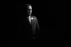 The President (alexlopezimages) Tags: blackandwhite 2012 laspositas theexpress