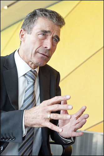 NATO secretary general Anders Fogh Rasmussen at the European Parliament