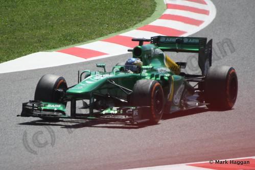 Charles Pic in the 2013 Spanish Grand Prix