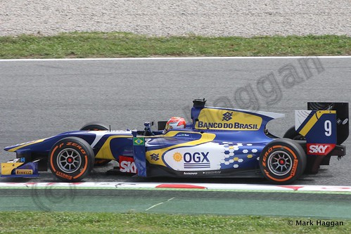Felipe Nasr in GP2 Free Practice at the 2013 Spanish Grand Prix