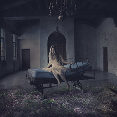 a room for dreams (brookeshaden) Tags: texture abandoned hospital losangeles chapel dreaming ill dreams imagine reality imagination sick fineartphotography hospitalbed conceptualphotography lindavistahospital fineartportraits creativelive brookeshaden shadentextures texturesofhearstcastle