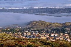 Home sweet hometown (Chief Bwana) Tags: ca snow fog 35mm santaclarita psa104 chiefbwana