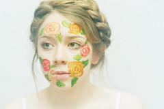 , (kristen rosas) Tags: flowers girl self canon eos cool paint portait lolita 7d blonde crown fade braids