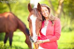 Sweet Horse Cuddles - Day 234/365 (Sasha L'Estrange-Bell) Tags: portrait horses horse green spring chestnut chestnuthorse sashabell oliviabell sashabellphotography horsewithwhitestripe tbsart