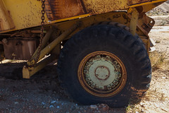 Abandoned Open Cut Mine Machinery (Serendigity) Tags: abandoned wheel truck gold mine desert australia mining machinery outback tyre northernterritory terex opencut eastmacdonnellranges whiterange
