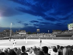Night Sky at Wrigley (shareski) Tags: wrigley photostream selectivecolor 36513