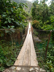 Hanging bridge (Carrascal Girl) Tags: bridge woodenbridge surigao hangingbridge carrascal caraga surigaodelsur carcanmadcarlan northeasternmindanao pantukan