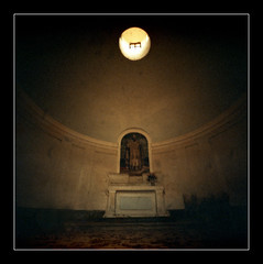 Very old church (inside) (Roberto Messina photography) Tags: film xpro pinhole filter expired sephia zero2000 velvia50