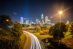 Charlotte City Skyline night scene (DigiDreamGrafix.com) Tags: city sunset urban skyline modern buildings lights nc cosmopolitan neon skyscrapers charlotte dusk south towers northcarolina business national convention metropolis southeast dnc charlottenc democraticconvention democratic banks offices 2012 illuminate finance democraticnationalconvention dazzling 21stcentury boomtown