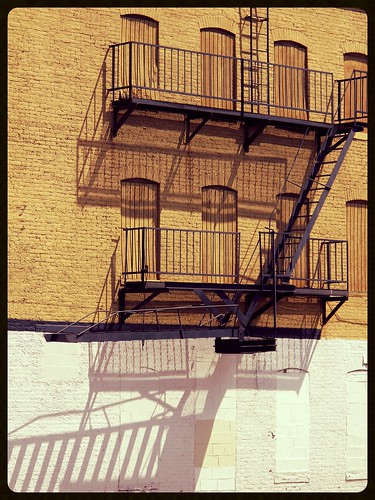 Sandtown ~ fire escape shadowplay