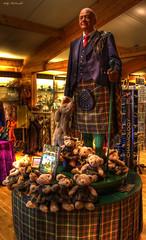 Mohamed Al-Fayed (Billy McDonald) Tags: shop scotland hdr tartan waxwork thehighlands mohamedalfayed fallsofshin